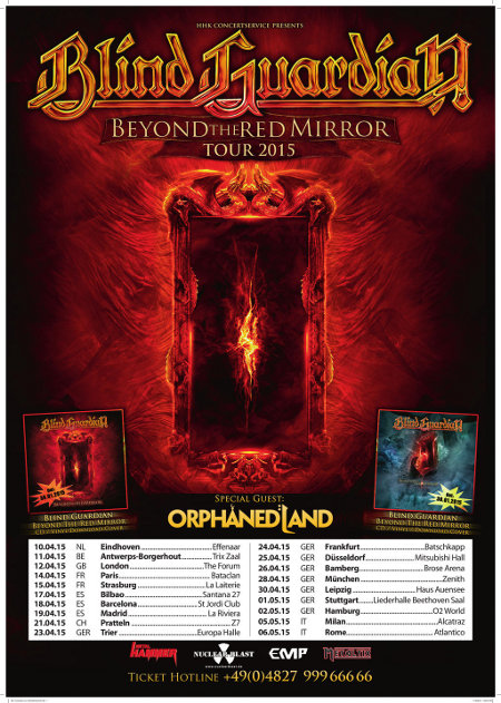 Blind guardian orphaned land the forum kentish town london for Mirror mirror blind guardian lyrics