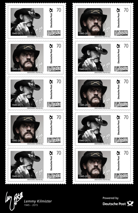 Motörhead Frontman Lemmy To Appear On German Stamps